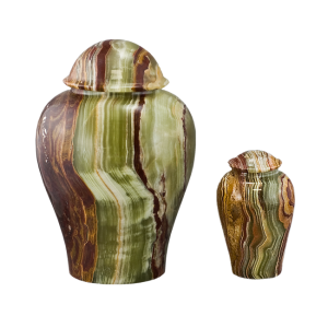 Onyx Vase - Tan/Rust/Green/White Onyx Vase (Adult)