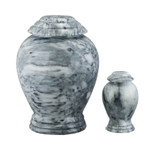 Grey/White Marble Vase - Gray/White Marble Vase with Base (Adult)