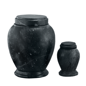 Black Marble - Black Marble Vase with Base (Adult)