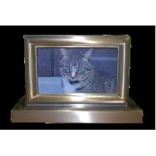 Photo Pet Urn - Brushed Nickel