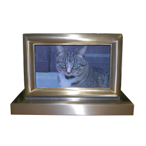 Photo Pet Urn - Brushed Nickel