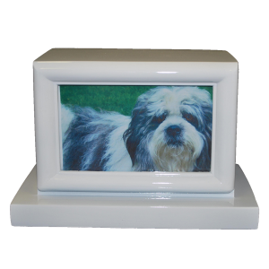 Photo Pet Urn - White Finish