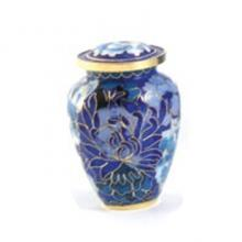 Floral Blue Elite Extra Small Urn