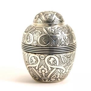 Silver Embossed Extra Small Pet Urn