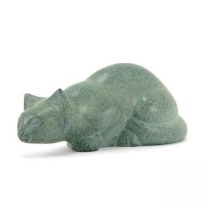 Patina Pouncing Cat Pet Urn