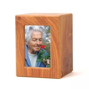 Large/Adult Natural Wood Photo Box Urn