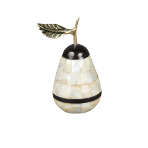 Mother Of Pearl Peara - Pear Shape Brass with Mother of Pearl