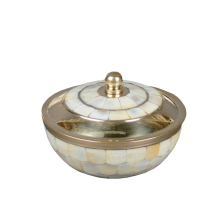 Mother Of Pearl Cirque - Bowl Shape Brass with Mother of Pearl