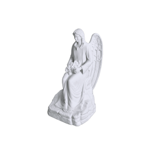 Angel In Mourning - Marble Statue, Seated Angel