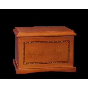 Medallion – Cherry Hardwood Urn w/Inlay (Adult)