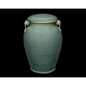 Corinthian I - Green Porcelain Vase