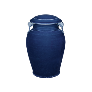 Corinthian II - Blue Porcelain Vase
