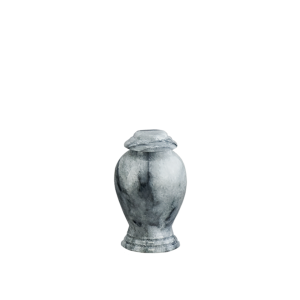 Grey/White Marble Vase Token - Gray/White Marble Vase with Base (Token)
