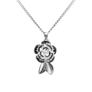 Peony  - Sterling Silver with Chain