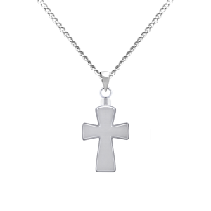 Stylized Cross - Sterling Silver with Chain