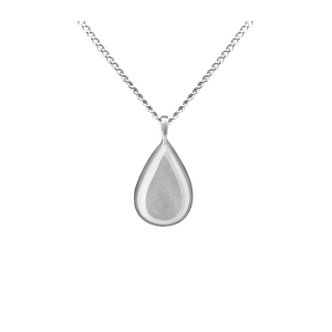 Teardrop - Sterling Silver with Chain