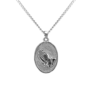 Praying Hands - Sterling Silver with Chain