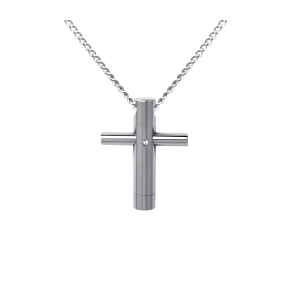 Cross Rod    - Stainless Steel with Chain