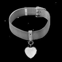 Mesh Heart Bracelet - Adjustable Belt Buckle Styling