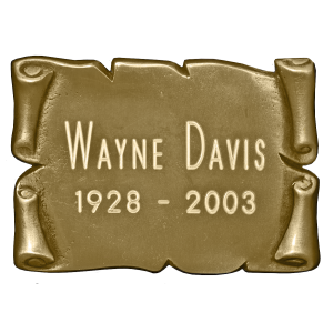 Nameplate - Square Nameplate/Bronze