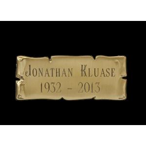 Nameplate - Cast Bronze Scroll