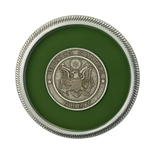 Army - Enamel with Silver Military Medallion