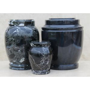 Black Genuine Marble Urn