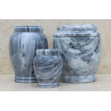 Grey Genuine Marble Pet Urn