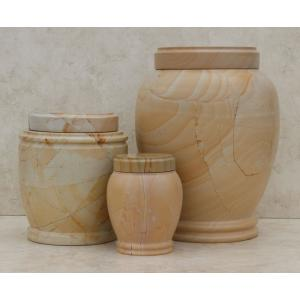 Teakwood Genuine Marble Pet Urn