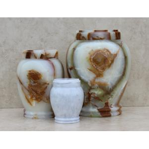 White Genuine Marble Pet Urn