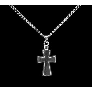 Cross - Sterling Silver with Chain Stylized