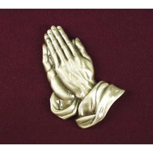 Praying Hands - Bronze, Urn Applique