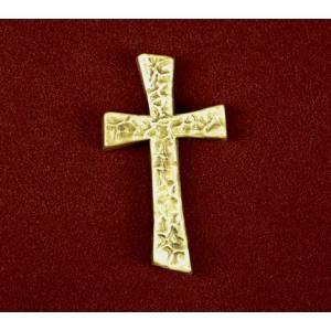 Urn Applique, Contemporary Cross