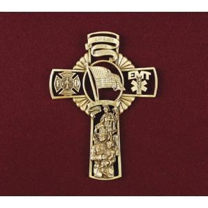 Fireman's Cross, Urn Applique
