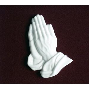 Praying Hands - Marble, Urn Applique