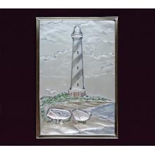 Hatteras Lighthouse - Sterling Silver Plaque