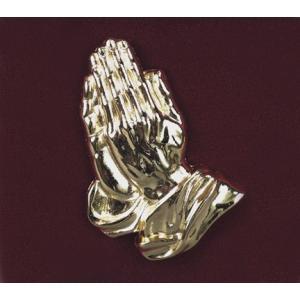 Praying Hands - Bright Gold, Urn Applique