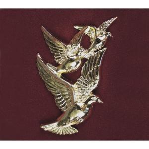 Doves in Flight, Urn Applique