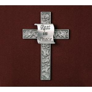 Prayer Cross with Rest in Peace