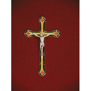 Gold/Green Crucifix, Urn Applique