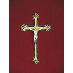 Gold/Blue Crucifix, Urn Applique