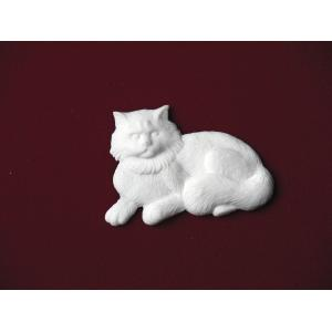 Fluffy Cat – Marble Pet Urn Applique