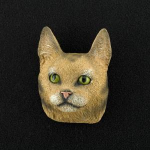 Maine Coon (Brown)  3D Pet Head Cremation Urn Applique