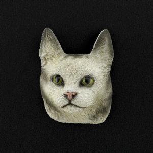 Maine Coon (silver) 3D Pet Head Cremation Urn Applique