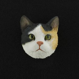Calico Tabby (shorthair) 3D Pet Head Cremation Urn Applique